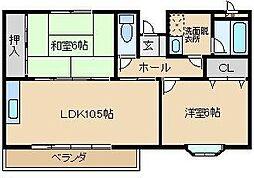 コンフォートI[2階]の間取り