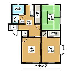 コーポ後藤A[2階]の間取り