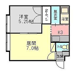 アパートメントリゲル[203号室]の間取り