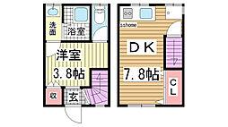 [一戸建] 兵庫県神戸市灘区中原通6丁目 の賃貸【兵庫県 / 神戸市灘区】の間取り