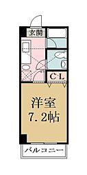 メゾン朋泉高砂[1108号室]の間取り