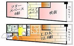 スタディオン[3階]の間取り