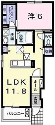ウエストガーデンVI[1階]の間取り