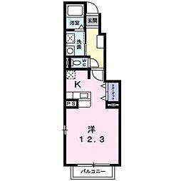 ジームスA[1階]の間取り