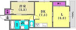 シャトウソフィア[7階]の間取り
