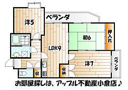 片野レジデンシャルビル[6階]の間取り
