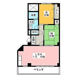 Cerisaie 錦[5階]の間取り