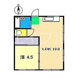 ロイヤルハイツ(大津)[3階]の間取り