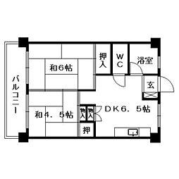 薬院マンション[5階]の間取り