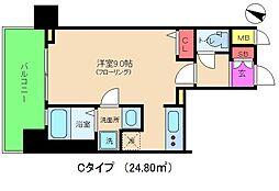 アドバンス西梅田II[2階]の間取り