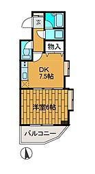 イデアーレツルカワ[2階]の間取り