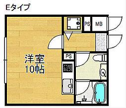 パラドール北加賀屋[3階]の間取り