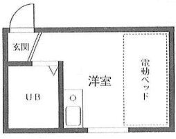 東京都杉並区梅里1丁目の賃貸マンションの間取り