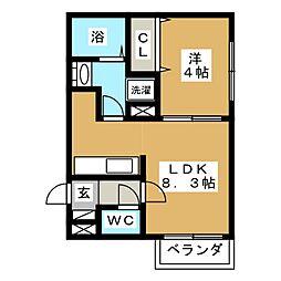 ルーエN15[2階]の間取り