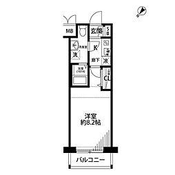 プレールドゥーク横浜WEST[2階]の間取り