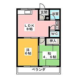 サンシャイン峯[1階]の間取り