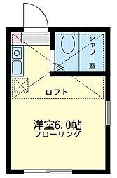 ユナイト 小田ジャンピエール[2階]の間取り