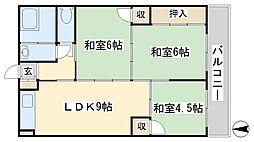 小堺ビル[402号室]の間取り