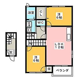 エストカルティエSHIMAII[2階]の間取り