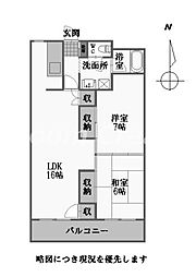徳島県徳島市中洲町3丁目の賃貸マンションの間取り