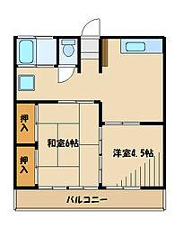 新百合ハイツB棟[2階]の間取り