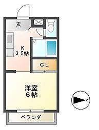 ネオシティ青山[3階]の間取り