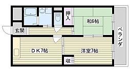 シティーガーデン鶴見[502号室]の間取り