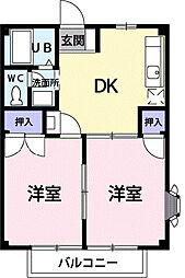 サクセス弐番館[2階]の間取り