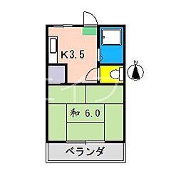 ドエル寿[2階]の間取り