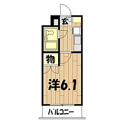 ユーコート三ツ境[112号室]の間取り
