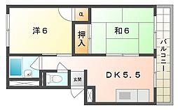 第1パークサイドハイツ[1階]の間取り