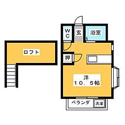 プレシジョン保福島[2階]の間取り