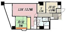 福岡県福岡市博多区西月隈3丁目の賃貸マンションの間取り