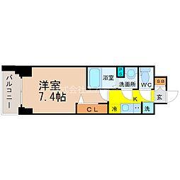 プレサンス桜通ベルノ[401号室]の間取り