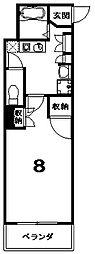 リグラン烏丸五条[5階]の間取り