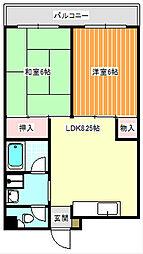 稲垣第3ビル[5階]の間取り