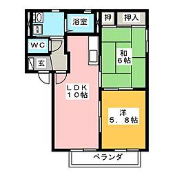 エトワールB[2階]の間取り