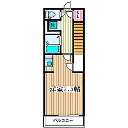 サンパレス塚本[2階]の間取り
