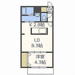 北海道札幌市中央区宮の森二条6の賃貸マンションの間取り