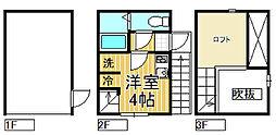 [テラスハウス] 神奈川県鎌倉市岩瀬 の賃貸【神奈川県 / 鎌倉市】の間取り