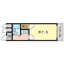 サンハイツ八坂[1階]の間取り