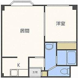 プレイズ澄川[2階]の間取り