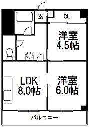 24軒興発ビル[306号室]の間取り