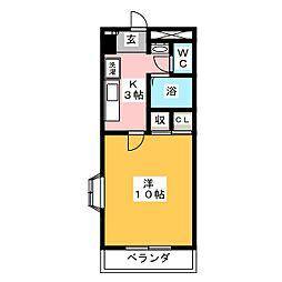 パルトネール東古松[3階]の間取り