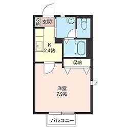 メゾン・Momo[2階]の間取り