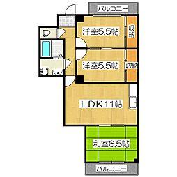ルシェール西院[2階]の間取り