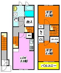 カイザー・ヴィラ 203号室[2階]の間取り