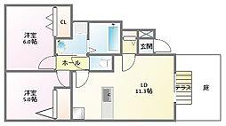 グレースメゾンA棟[1階]の間取り