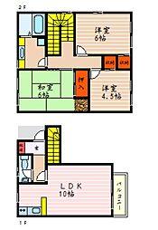 Kマンション西今[2階]の間取り