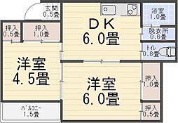 秀和コーポ[303号室]の間取り